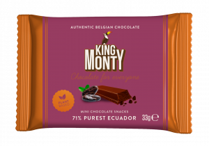 King Monty 71% Purest Ecuador Snacking Size 33g x 1