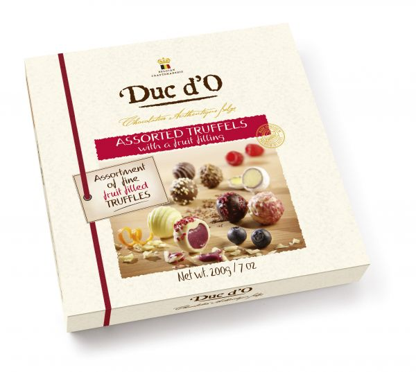 Assorted Truffles with a Fruit Cream Filling 200g x 7