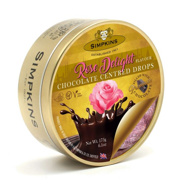 Rose Delight Chocolate Center Drops 175g x 6