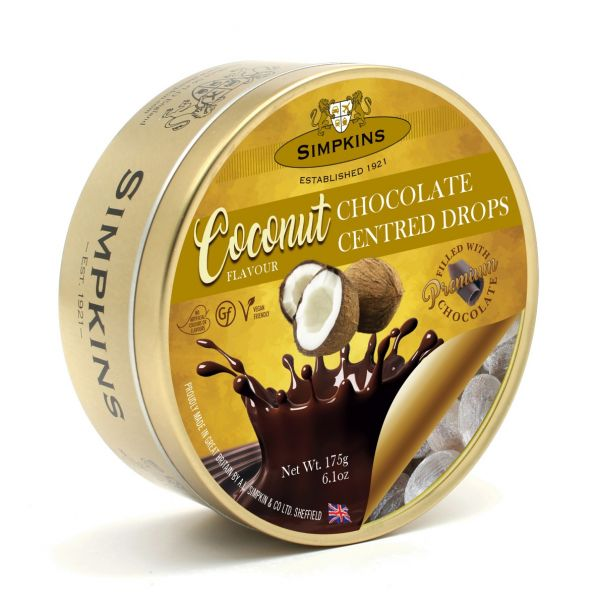 Coconut Chocolate Center Drops 175g x 6