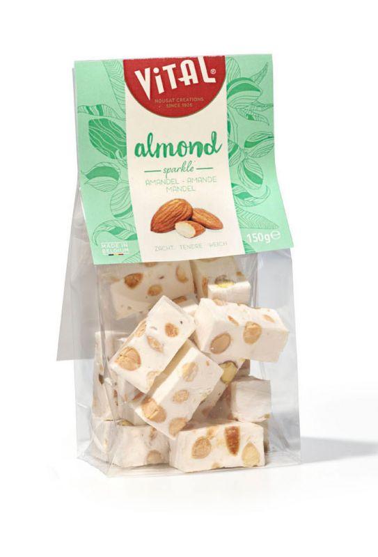 Bag Soft Almond Nougat 150g x 10