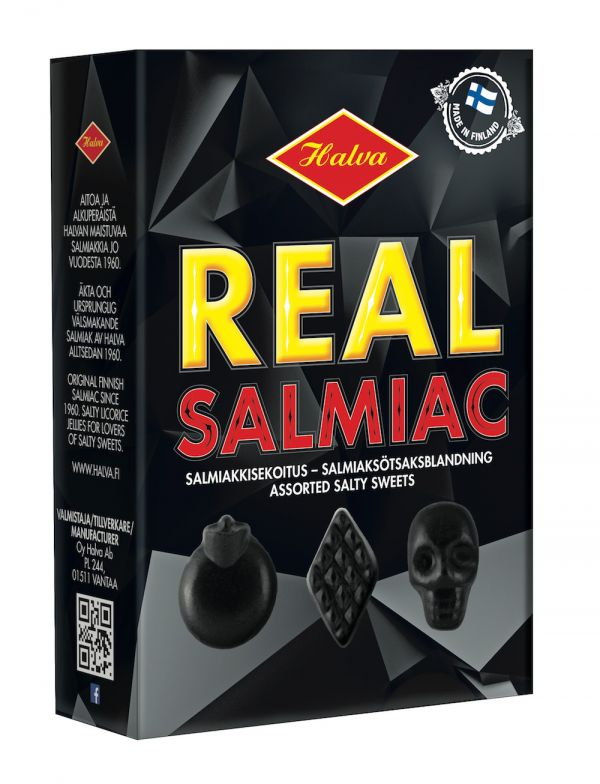 Real Salmiac Assorted Salty Jellies 230g x 10