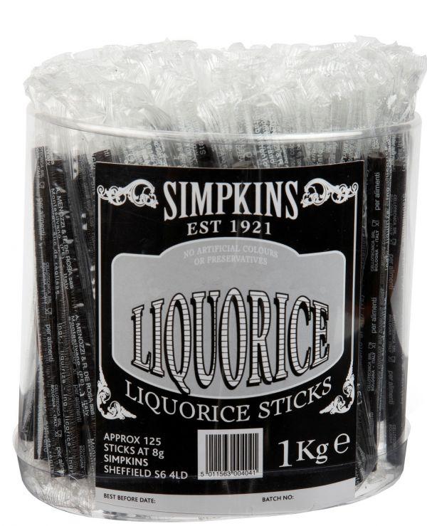 No Added Sugar Liquorice Sticks x 1kg (Approx 125pc)