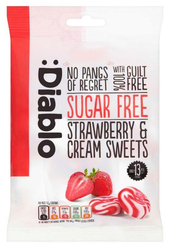Strawbery & Cream Sweets (Sugar Free) 75g x 16