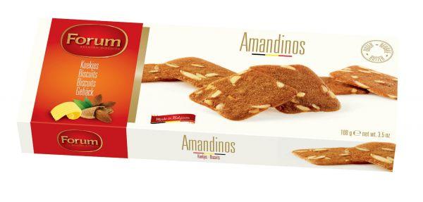 Amandinos (Almond Thins) 100g x 12 Zero VAT