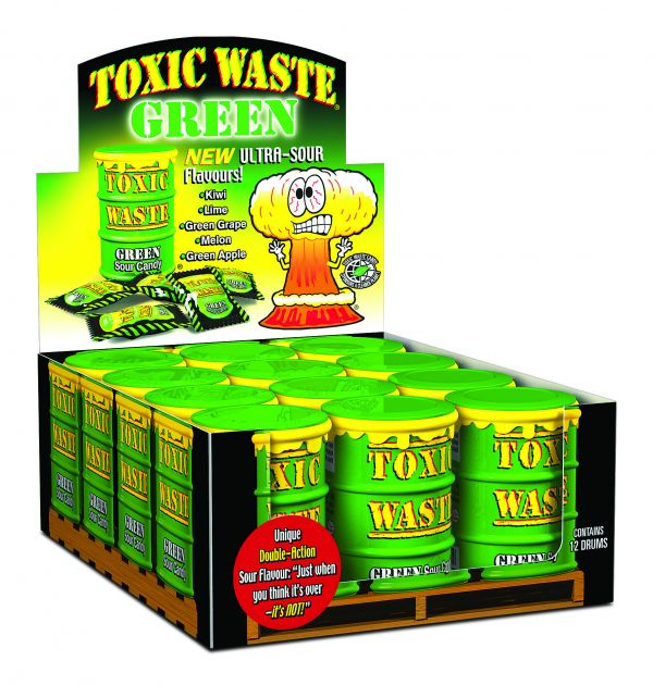 Toxic Waste Green Ultra Sour Drum