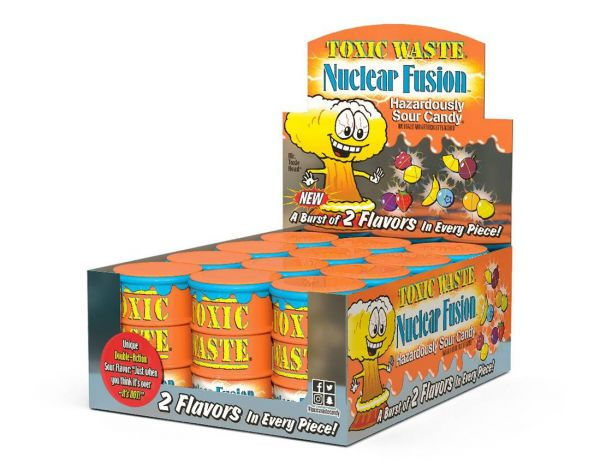 Toxic Waste Nuclear Fusion' Ultra Sour Candy Drum 42g x 12