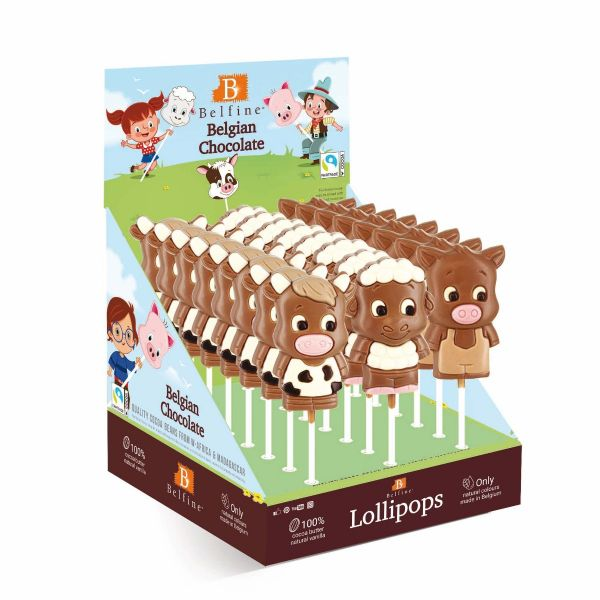 Farm Lollies (Cow, Pig, Sheep) 35g x 24
