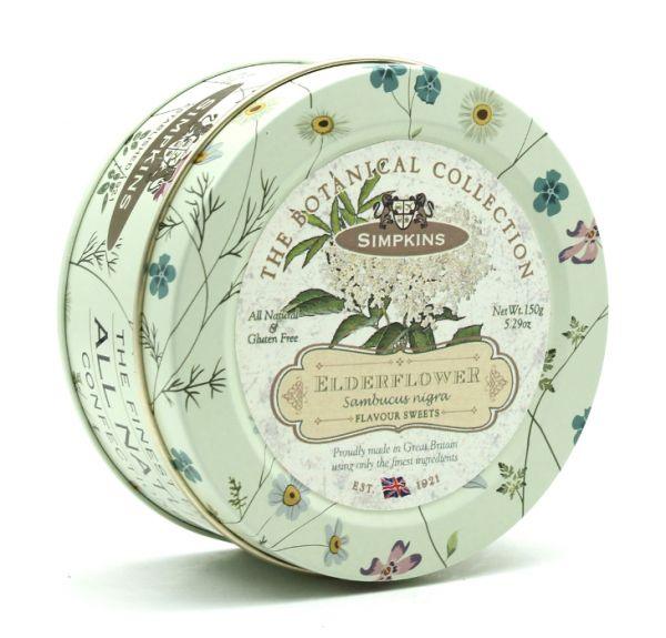Botanical Tin Elderflower Drops 150g x 10