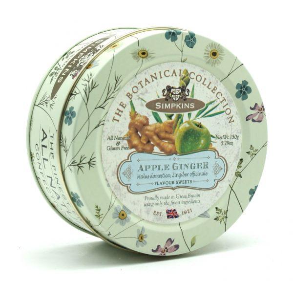 Botanical Tin Apple & Ginger Drops 150g x 10