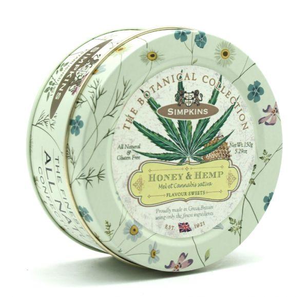 Botanical Tin Honey & Hemp Drops 150g x 10