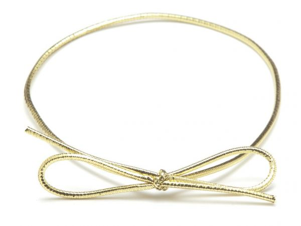 """Gold Metalic Elastic Loops 14"""" to fit 12,16(Sq), 24 & 25 Choc Fold-Up Boxes x 50 Size 355mm"""