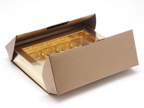 Speciality Gift Box 12 Choc  Pearl Bronze  (193 x 147 x 36mm) x 5