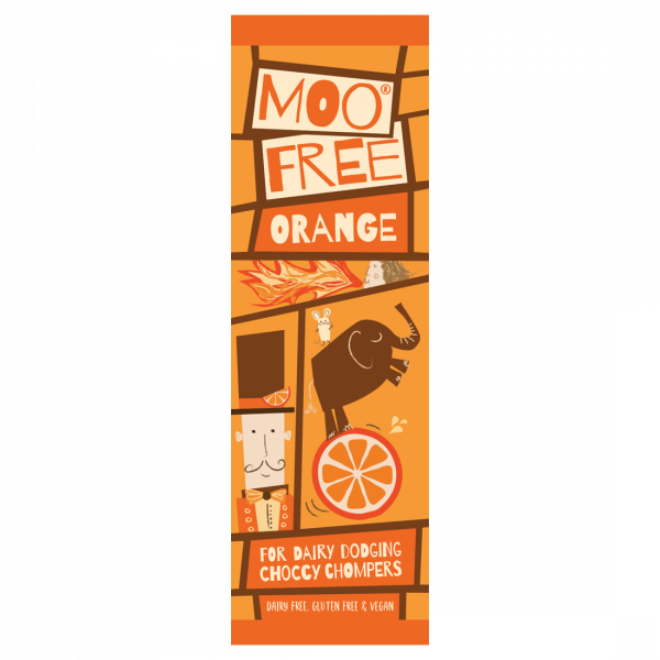 Organic Mini Moo Orange Bar 20g x 20