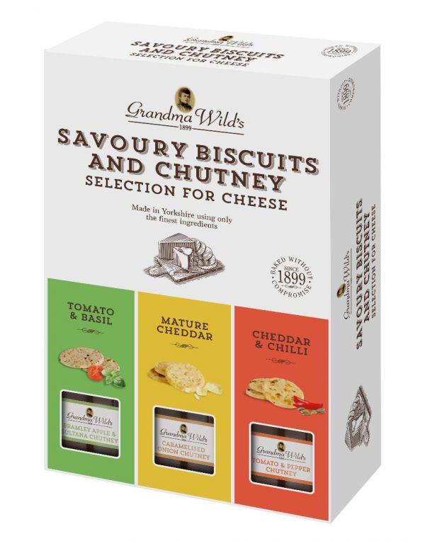 Savoury Biscuits and Chutney 495g x 6 Zero VAT