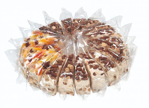 Soft Nougat Cake (10 almond / 5 fruit / 5 choc) 150g x 20 slices