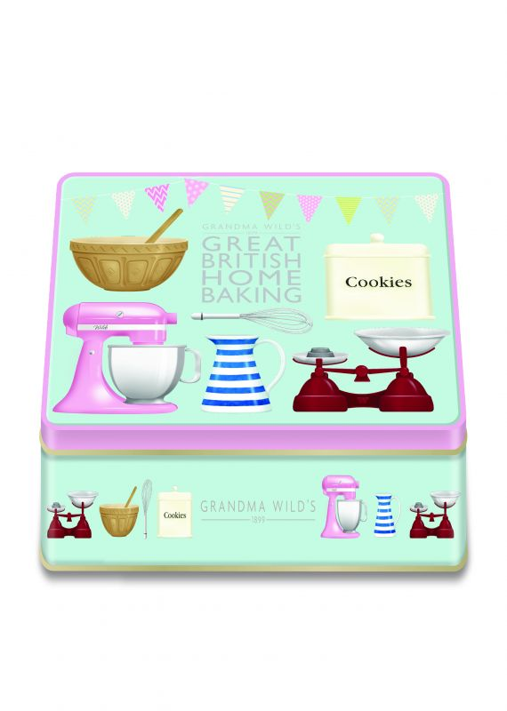 Great British Home Baking Tin 400g x 6 Stem Ginger and Lemon Biscuits  Chocolate Chip & Clotted Cream Shortbread Biscuits Chocolate Chip Biscuits   All Butter Shortbread Biscuits