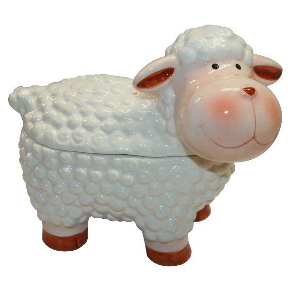 Ceramic Sheep Cookie Jar - Mini Clotted Cream Bites 100g x 6