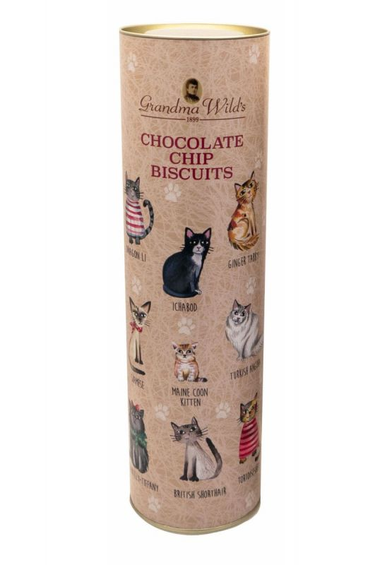 Cats in Jumpers Giant Tube Chocolate Chip 200g x 9