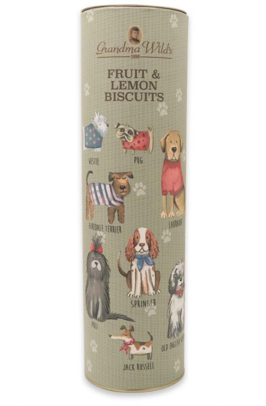 Dogs in Jumpers Giant Tube Fruit & Lemon Biscuit 200g x 9