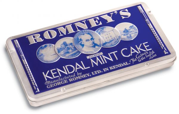 Large Tin of Romney's Mint Cake 170g x 12