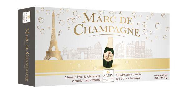 Long Box Marc De Champagne Liqueur Bottles 75g x 18