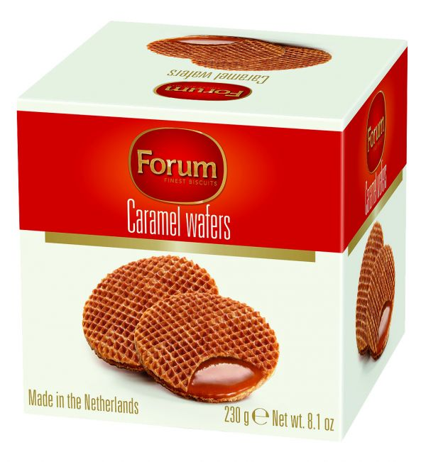 Caramel Wafers Boxed 230g x 12 Zero VAT