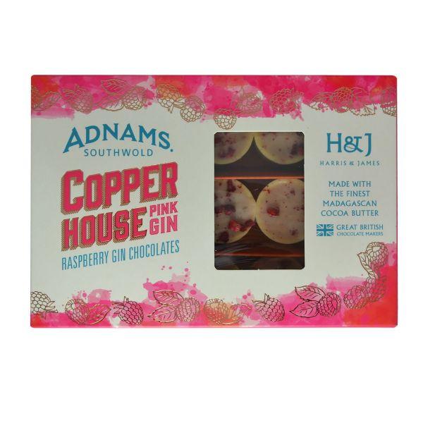 Adnams Pink Gin Chocolate Gift Box 180g x 8