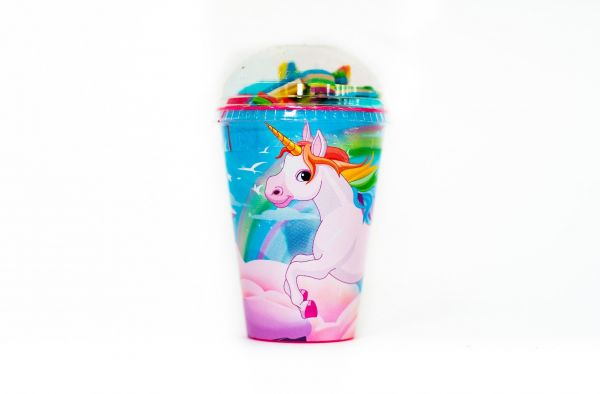 Unicorn Cup  with Jellies and Mallows 150g x 6 SHORT DATED 30/6/2020
