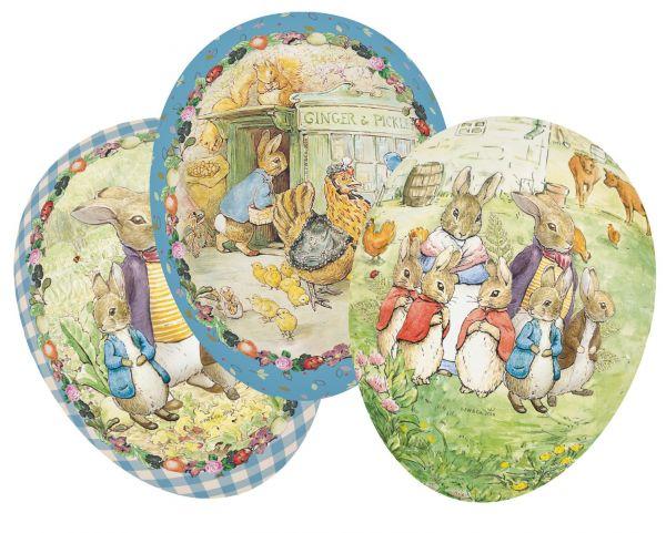Beatrix Potter Cardboard Easter Eggs 12cm x 12