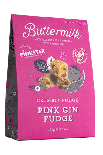Crumbly Pink Gin Fudge 150g x 6