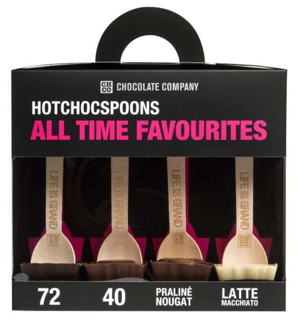 Favourites Collection-Chocolate Spoons (72%, 40%, Praline & Latte Macchiato) 200g x 5