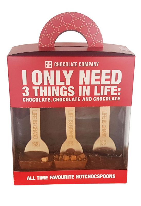 Caramel Lovers Chocolate Spoon Trio Gift Pack 150 x 5