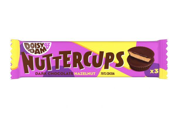 Doisy & Dam Nuttercups Hazelnut 30g x 18