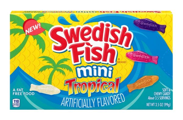 Swedish Fish Mini Tropical Theatre Box 99g x 12