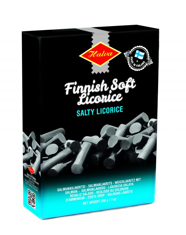 Finnish Salmiak Licorice Box 200g x 16