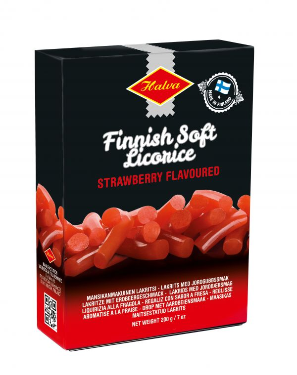 Finnish Strawberry Licorice Box 200g x 16