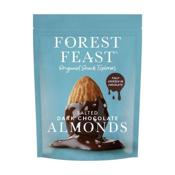 Forest Feast Salted Dark Chocolate Almonds 120g x 8