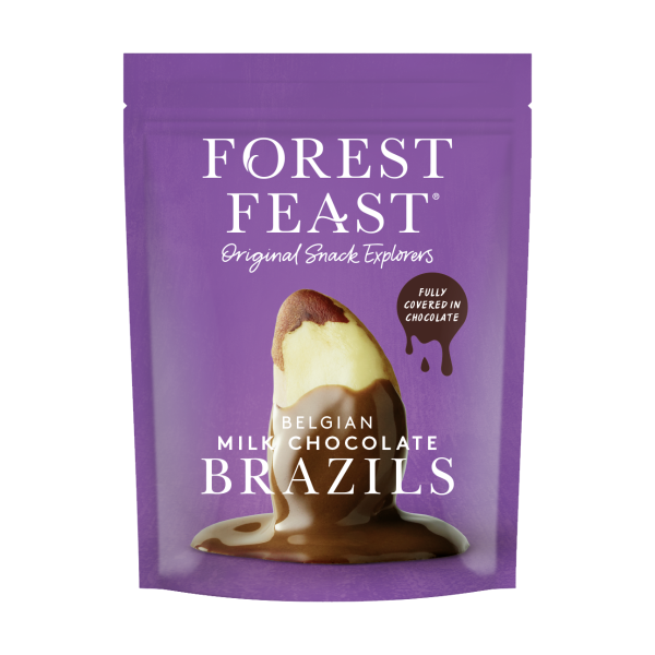 Forest Feast Belgian Milk Chocolate Brazils 120g x 8