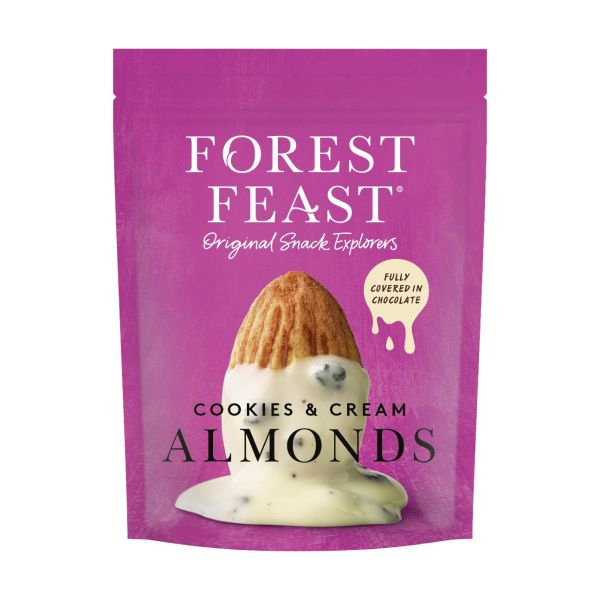 Forest Feast Cookies & Cream Almonds 120g x 8