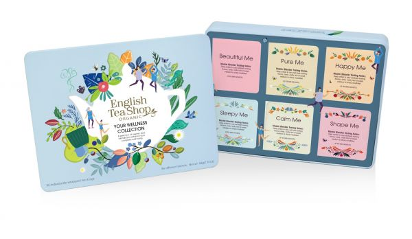The Ultimate Tea Collection Gift Tin 36 Tea Bags Sachets - 6 flavours ( Beautiful Me, Pure Me, Happy