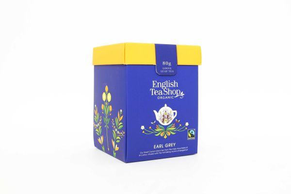 Organic Earl Grey Tea - Loose Leaf Tea Box 80g x 6 Zero VAT