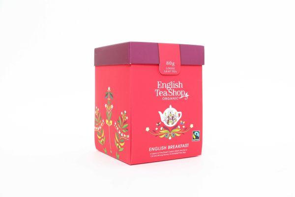 Organic English Breakfast Tea - Loose Leaf Tea Box 80g x 6 Zero VAT
