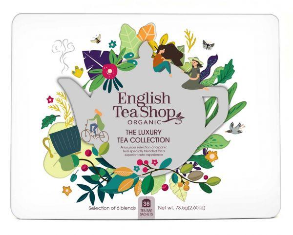 Organic Luxury Tea Collection - 36 Tea Bag Sachets, 6 flavours 73.5g x 6