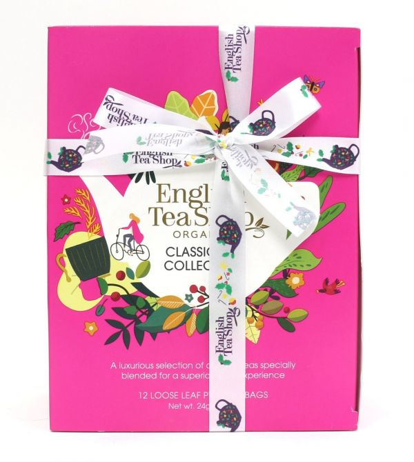 Classic Tea Collection Prism 12 Pyramid Bags - 12 flavours (Green Tea & Pomegranate, Chocolate Rooib