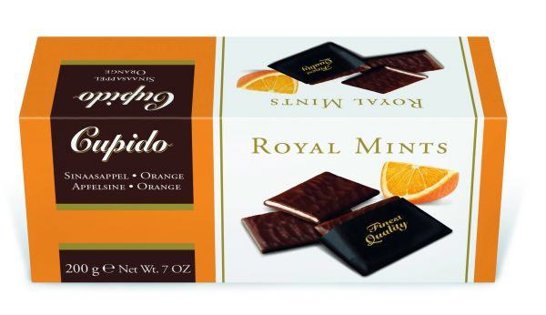 Cupido Orange Royal Mints 200g x 12