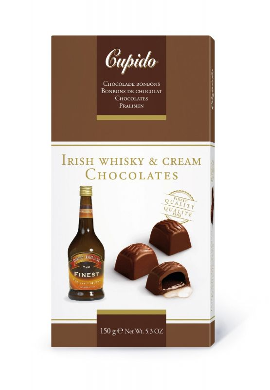 Cupido Irish Whiskey Cream Chocs 150g x 10