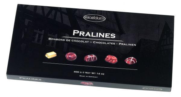 Chocolate Assortment 'Excelcium' Black Box 400g x 12