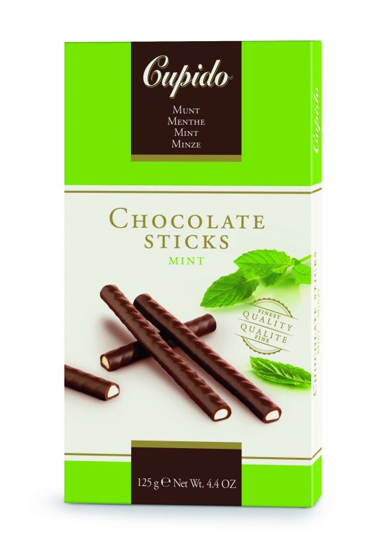 Cupido Mint Chocolate Sticks 125g x 12