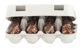 12 White Chocolate Eggs Filled with Praline 156g x 12